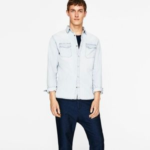 Zara Denim  Button Down Shirt